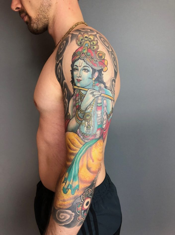 "Tattoo von Tom ""Krishna"""
