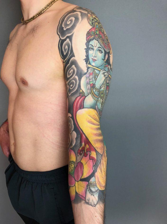"""Tattoo von Tom """"Krishna"""" andere Seite"""