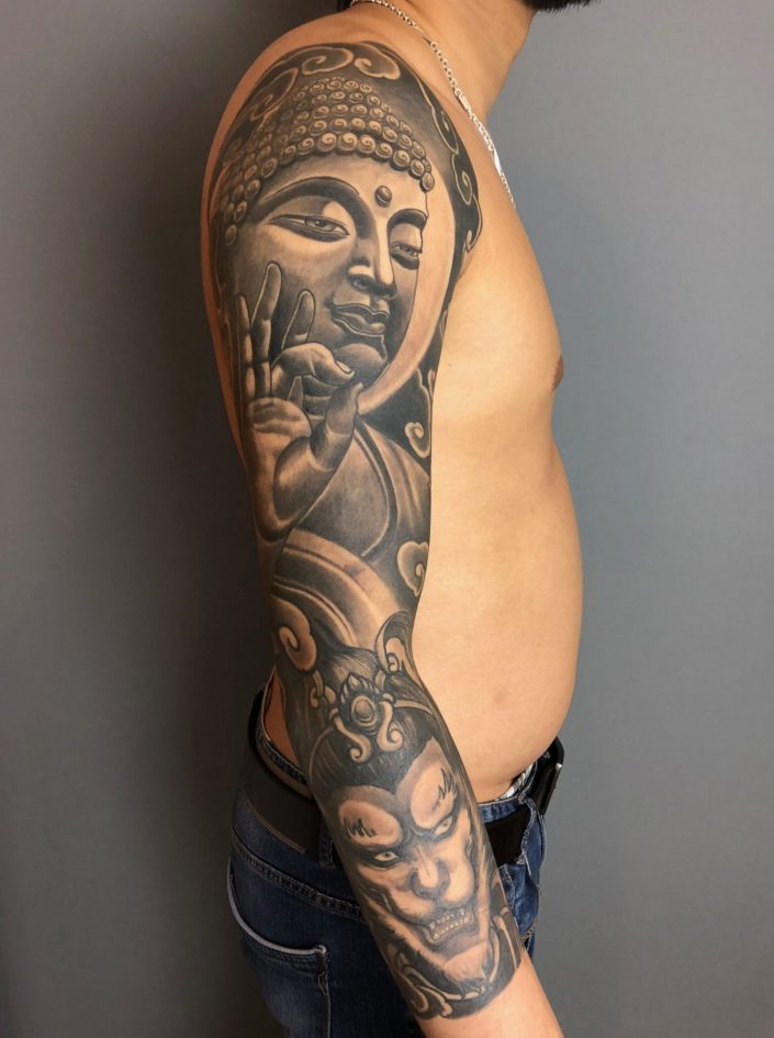 "Tattoo von Tom ""Buddha"""