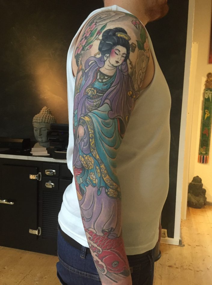 "Tattoo von Tom ""Geisha"" Arm"