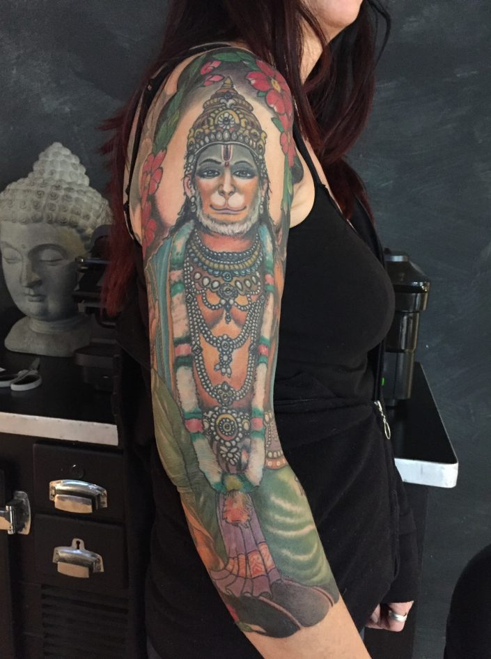 "Tattoo von Tom ""Hanuman"""